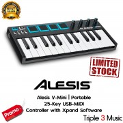Alesis V Mini USB MIDI Keyboard Controller, 25-Key