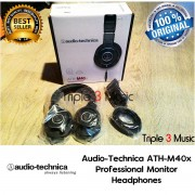 Audio Technica ATH M40X | ATH-M40X PROFESSIONAL STUDIO MONITOR HEADPHONES Garansi Resmi 1 Tahun | Triple3music