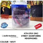 Audio Technica ATH S300 | ATH S-300 Warna Navy | Street Monitoring Headphones Garansi Resmi 1 Tahun | Triple3music