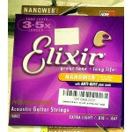 Elixir ACOUSTIC guitar phospore bronze extra light 010-047 16002 nanoweb