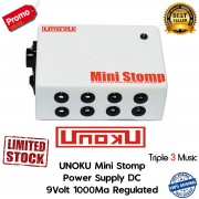 Unoku Ministomp Power Supply DC (efek Stompbox Standard) 9v 8 Port 1000Ma