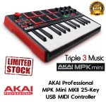Akai MPK mini MKII USB Keyboard Controller, 25-Key, Black
