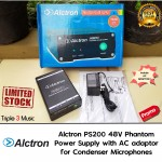 Alctron PS200 Phantom Power Supply 48v For Mic Condenser Include AC Adaptor