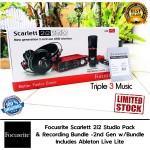 Paket Recording Focusrite Scarlett Studio 2i2 2nd Generation Recording