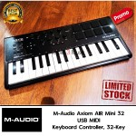 M-Audio Axiom AIR Mini 32 | Premium 32-Key USB MIDI Keyboard & Drum Pad Controller (8 Pads / 8 Knobs)