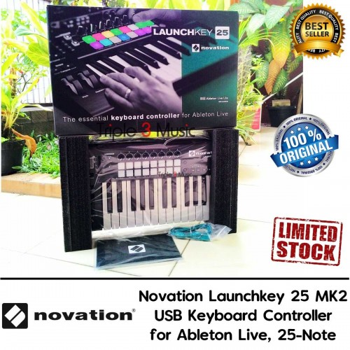Novation Launchkey 25 MK2 USB Keyboard Controller For Ableton Live
