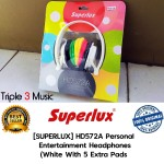 Superlux HD572A White Headphone Stylish With Extra Pads