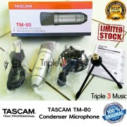 Tascam TM80 Mic Condenser Professional Include Shockmount Kabel Stand Mini